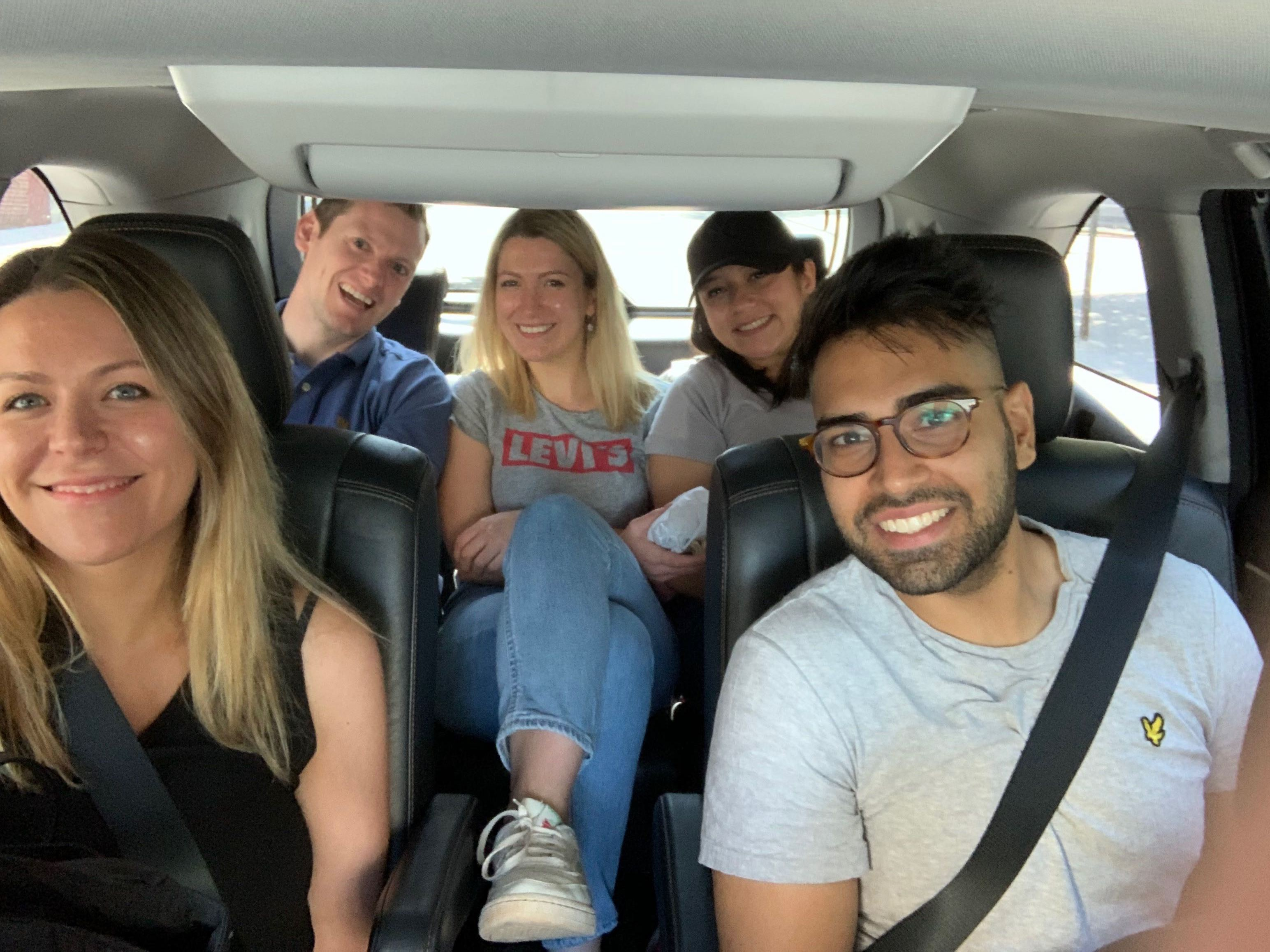 Our NY team on the way to spend a day with DreamYard